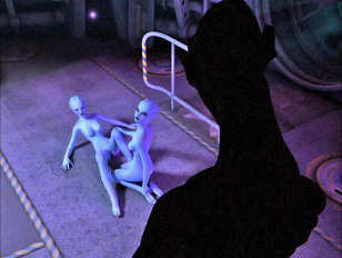 evil 3d porn with hot alien chicks down on their knees