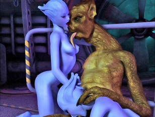 elfxxx getting brutally pounded by some big bad creature