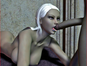 Hentai werewolf with a lovely animated bitch in 3D porn