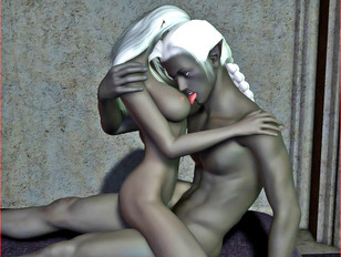 3dmonsterporn with very hot dark elves fucking like crazy