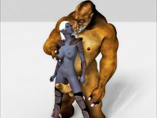 demon 3d porn of sluty elves against big monster cocks