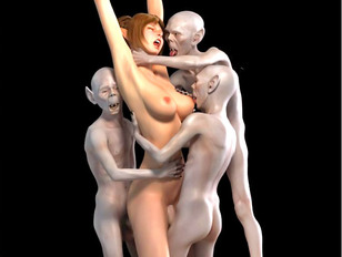 Sexy 3d petite hotties get fucked hard by evil creatures.