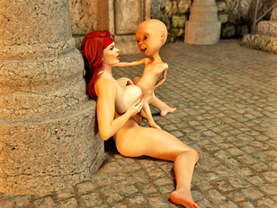 Kinky 3d gallery showing a cute elf girl fucked by an orc.