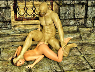 Bizarre 3d gallery featuring a cute busty babe raped by an ugly creature.