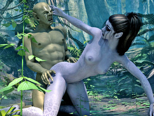 Caught elf babes getting brutally raped by monsters in the jungle