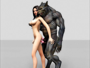 Hot young 3D chicks getting banged by horny werewolves - monstersex gallery
