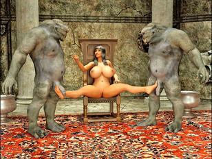 Awesome cartoon porn showing a busty elf babe fucked by fierce beasts.