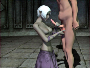 Young sexy amateur is ready do entertain with two good-looking monsters