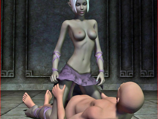 dark elven gets all wild during 3d evil monster sex