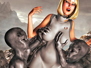 Bizarre 3d sex gallery featuring a cute babe fucked by a fierce moster.