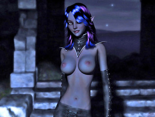 Tempting 3D night elves taking off their clothes - nude fantasy gallery