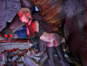 Wicked 3d xxx gallery showing a cute babe ravished by a demented monster.
