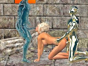 free 3d monster sex where slut gets all her holes filled