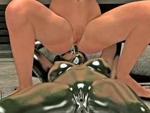 girl's rounded juicy ass is perfect for 3d anal rape