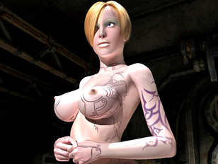 3d evil comics of slut with short hair getting naked