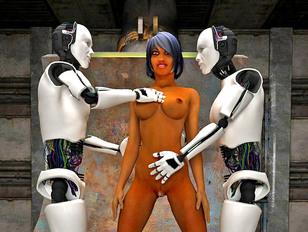 Sexy little 3d slut loves riding on huge monster robot cocks.