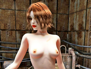 Pale 3D redhead girl showing off her amazingly sexy nude body