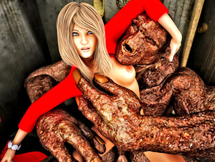Awesome 3d porn gallery showing a lovely babe fucked by an ugly monster.