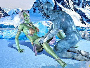 Lovely 3d babe enjoys being fucked hard by a menacing ugly monster.
