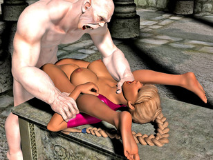 Busty white red head attracts her new monster horny neighbour