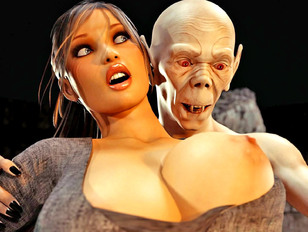Wicked 3d xxx gallery showing a cute babe dominated by a fierce demon.