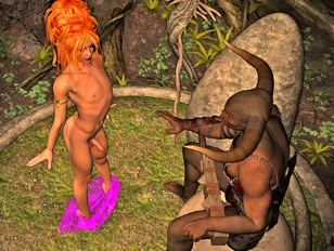 Elfs, demons and devils and humans all together in an orgy