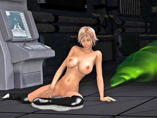 Busty 3D cutie getting her pussy filled with liquid alien's semen