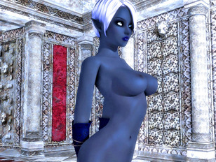 Animated, 3D outdoor sex with a sexy naked warrior