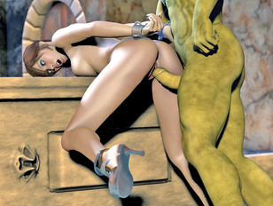 Beautiful 3D redhead betting brutally violated by two zombies - xxx gallery