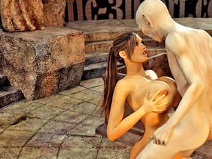 Demon breast fucking foxy tomb raider and cuming in her mouth