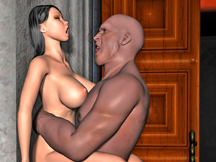 Hot 3D cutie getting nailed hard by gigantic black dick