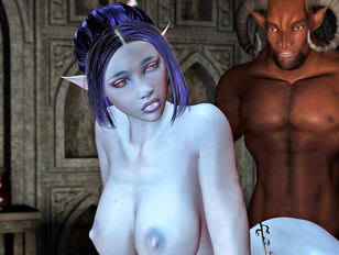 Evil porn 3d with hell demons fucking cute babes