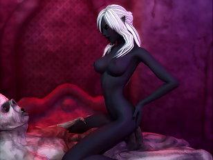 Horrible orc fucking a gorgeous dark elf