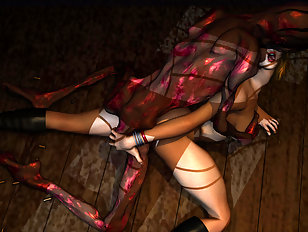 Titan handling hot babe like a toy ripping her insides to shreds