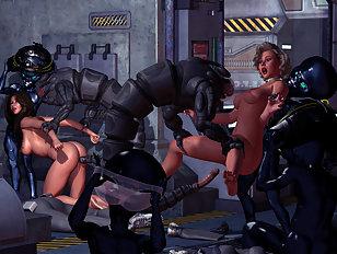 Two hotties raped by horrid robots