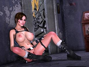 Sexy fantasy babes taking massive monster dicks