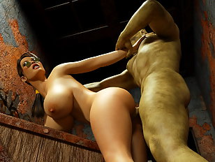 Hot naked babe spanked by her mistress