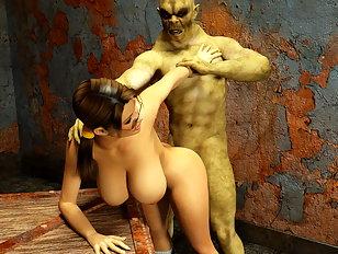 Fantasy beast sex is her fantasy