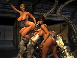Chained human girls ready for drow priestess whipping