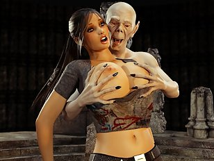 Lara Croft is in trouble with an evil 3D vampire