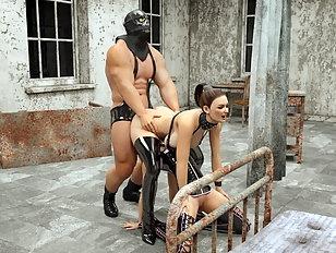 Beautiful virtual divas showing their hardcore sex skills