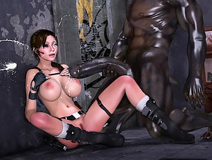 Redheaded babe ties up undead to a desk and sucks him off