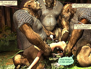 Elven paladin captured by ogres who love tender maidens