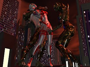 Luscious 3d gals get bound and plowed by terrific monsters