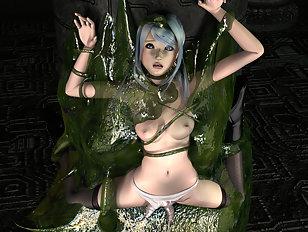 Terrible 3d aliens screw a craving horny bimbo