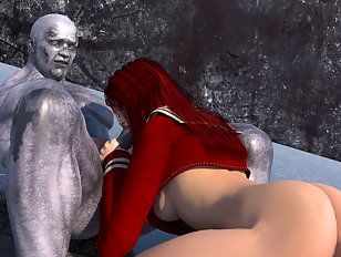 Indecent rock ogre plows a fascinating 3d redhead