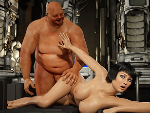 Raunchy 3d skank moans while fucking with a coarse beast
