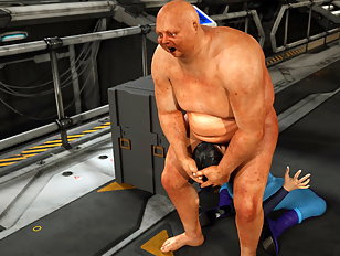 Atrocious 3d ogre spills his load on a busty bimbo