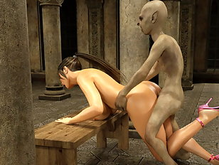 Splendid 3d cutie groans while fucked by a dissipated monster