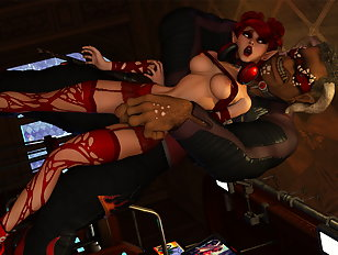 Kerrigan and Nova brutalized by horny Zergs.